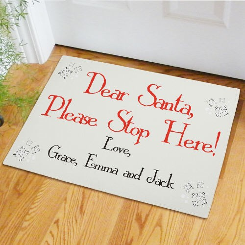 Custom Printed Santa Doormat