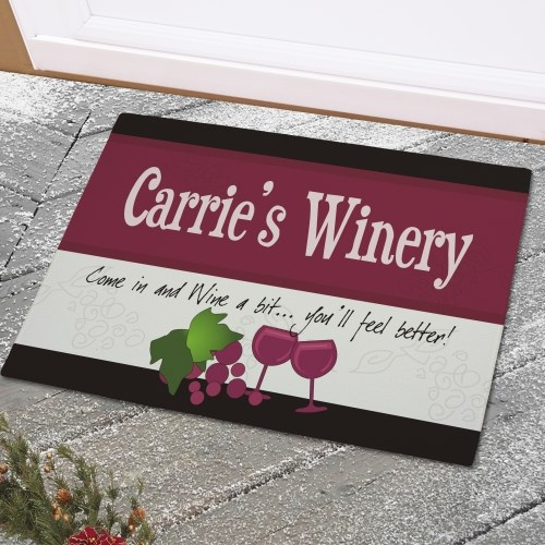 Personalized Winery Home Doormat