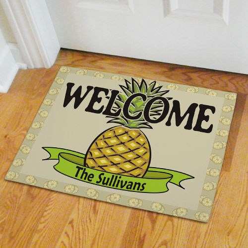 Personalized Pineapple Welcome Door Mat