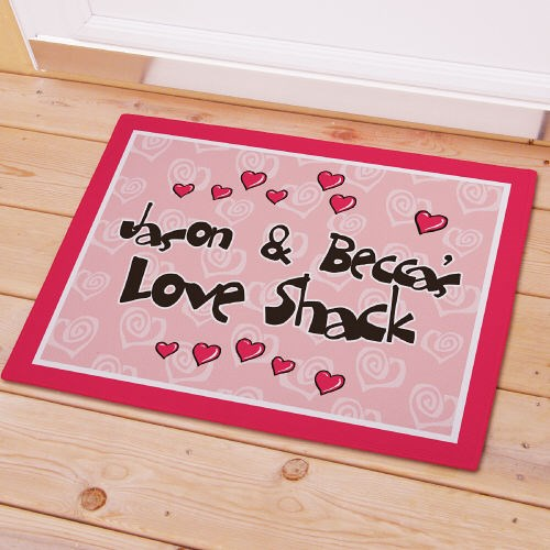 Custom Printed Valentines Day Doormat