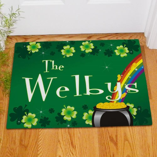 Custom Printed St Patricks Day Welcome Door Mat