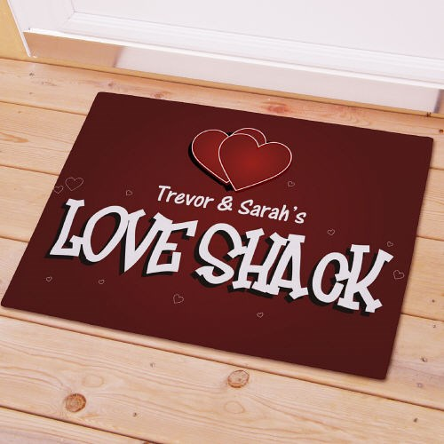 Love Shack Personalized Doormat