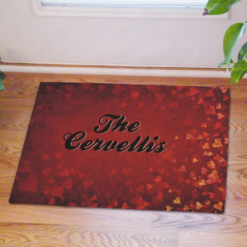 Personalized Romantic Valentine Doormat