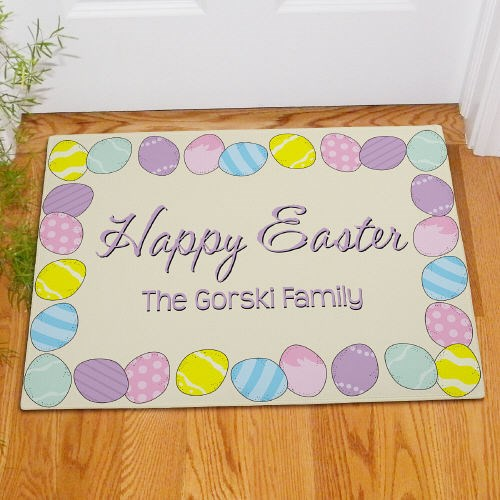 Custom Printed Happy Easter Welcome Door Mat