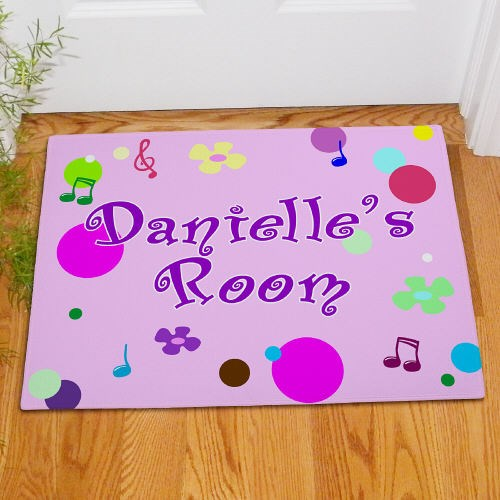 Personalized Girls Room Door Mat