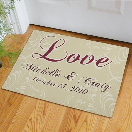 Personalized Wedding Couple Door Mat