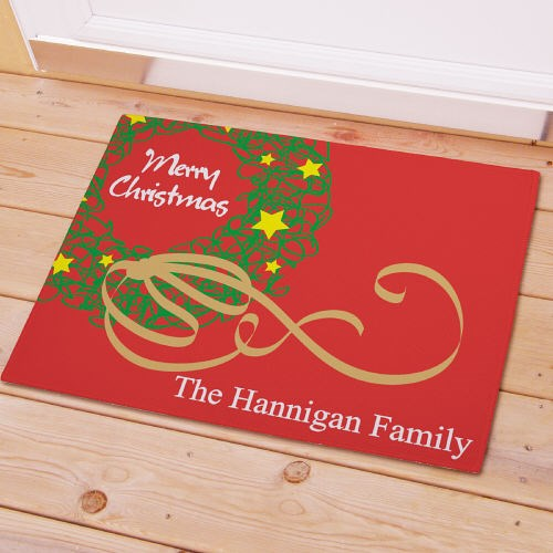 Personalized Christmas Wreath Doormat 83137857
