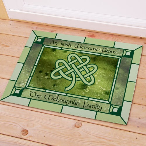 Personalized Irish Celtic Knot Doormat 83139607