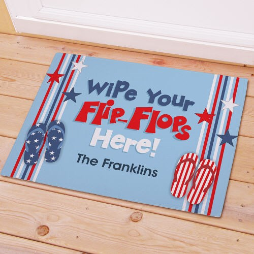 Personalized Wipe Your Flip Flops Here Stars Doormat 83143327