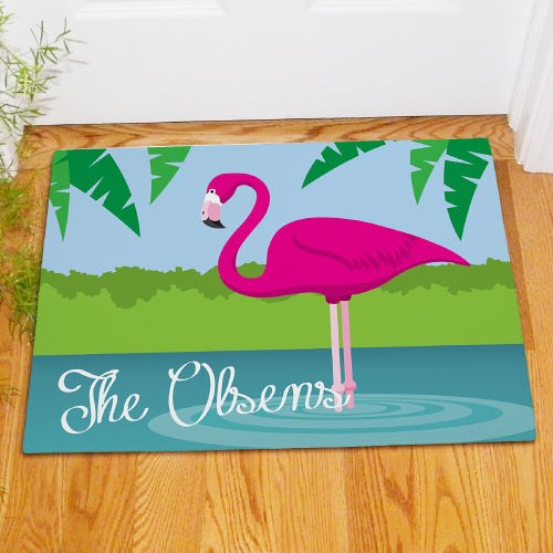 Personalized Flamingo Doormat 83163227X