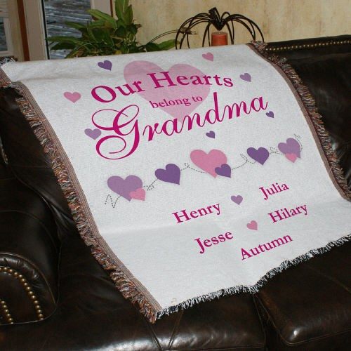 Personalized Our Hearts Belong To...Tapestry Throw Blanket 8304215