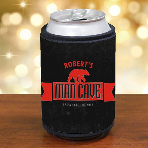 Personalized Man Cave Can Wrap Koozie 372489
