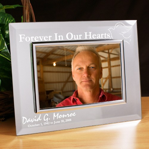 Forever In Our Hearts Memorial Mirror Picture Frame