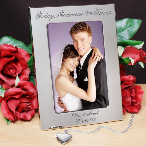 Personalized Wedding Silver Picture Frame