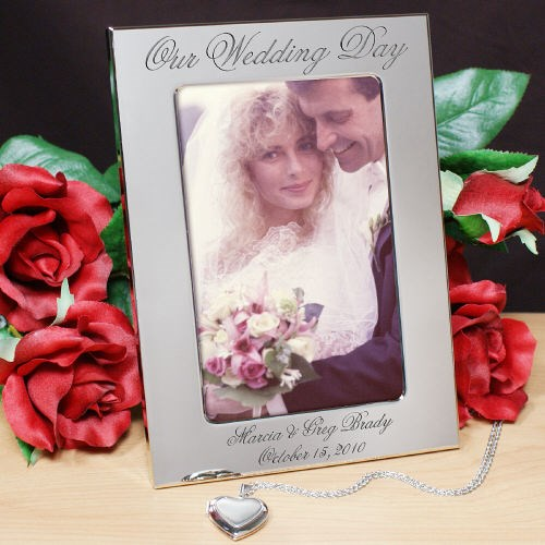 Personalized Our Wedding Day Silver Picture Frame