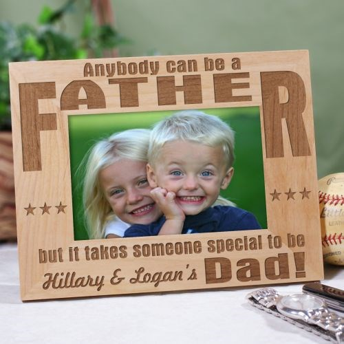 Anybody Can Be...Dad Personalized Wood Picture Frame | Dad Frames