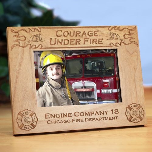 Personalized Fire Department Wood Picture Frame 928061