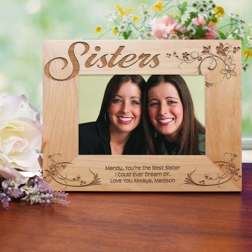 Engraved Picture Frame for Sisters