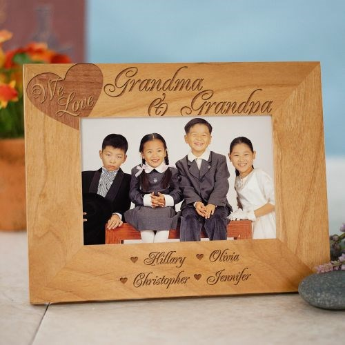 Engraved Love of Family Picture Frame