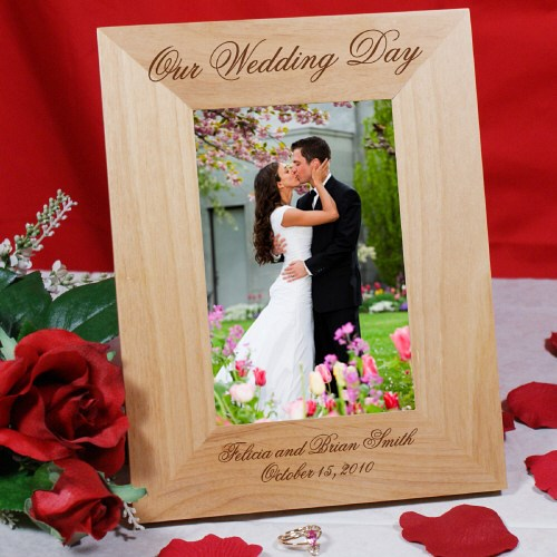 Personalized Wedding Day Wood Picture Frame 930371