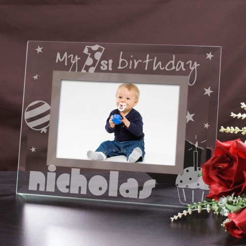 Engraved First Birthday Glass Picture Frame G914131