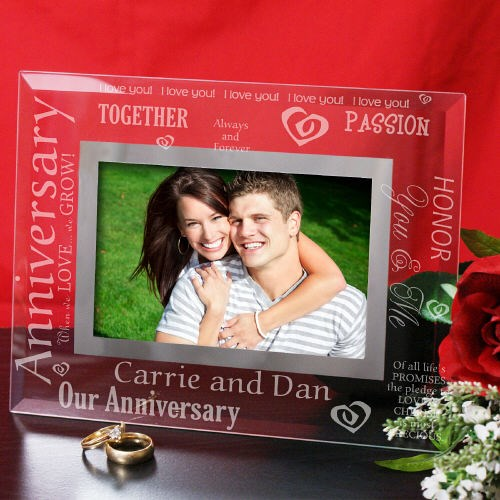 Anniversary Glass Picture Frame