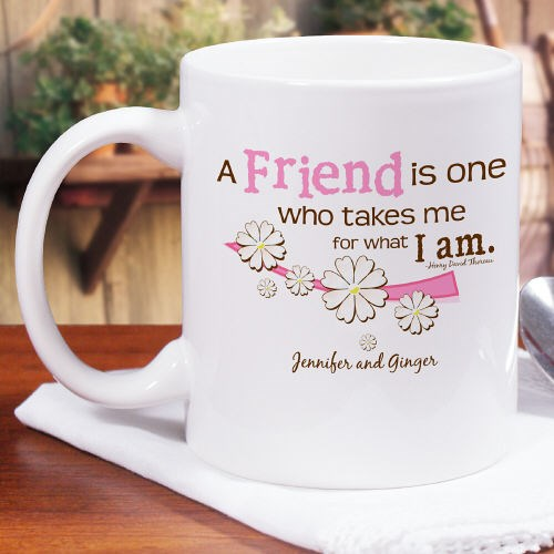 Personalized Friend Coffee Mug