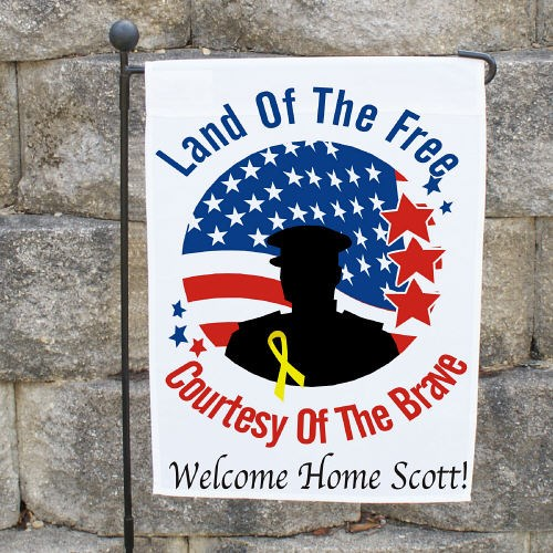 Personalized Land of The Free Garden Flag 83018472