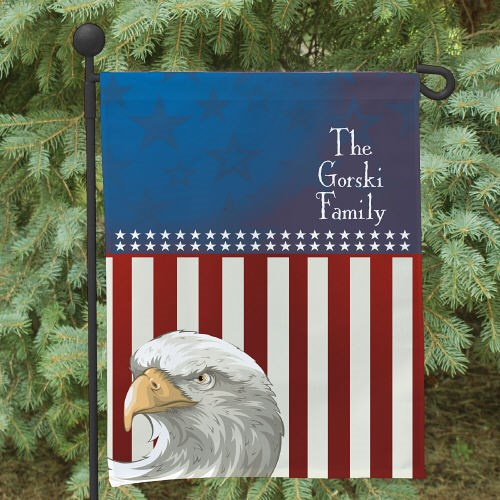Personalized Patriotic Garden Flag | Memorial Ideas