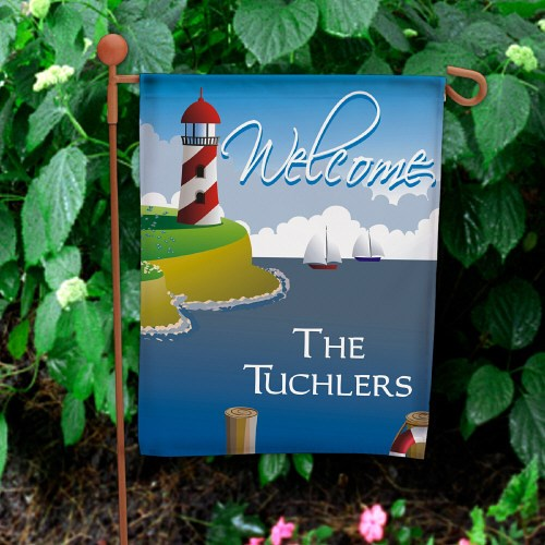 Lighthouse Personalized Garden Flag 83035962