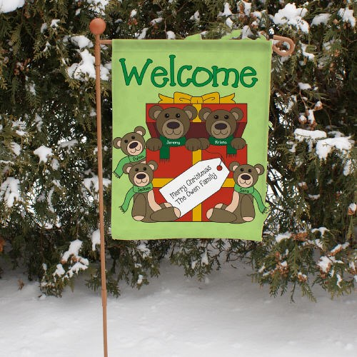Teddy Bear Family Personalized Garden Flag 83037062