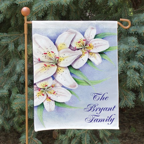 Personalized Easter Lily Garden Flag 83039522