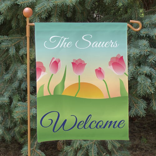 Personalized Spring Tulips Garden Flag 83059312N