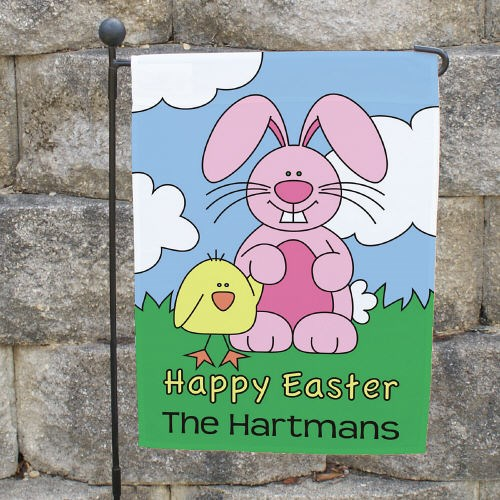 Personalized Happy Easter Garden Flag 83062252