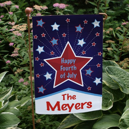 Personalized Happy 4th Garden Flag 83067822