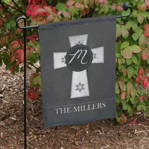 Personalized Family Cross Garden Flag 83075442