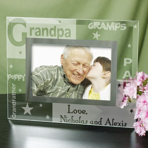 Engraved Grandpa Glass Frame G912001