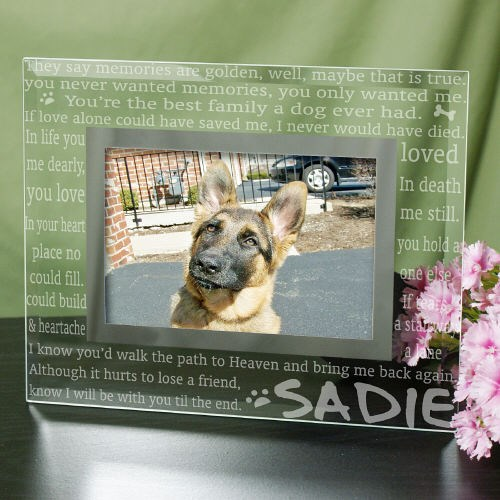 Engraved Til' the End Pet Memorial Glass Frame G912981