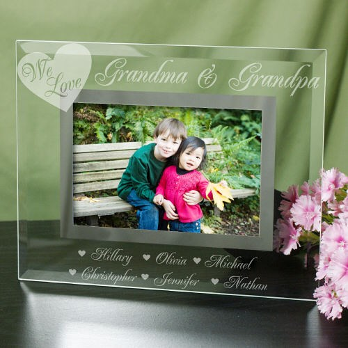 Engraved We Love Picture Frame G929331