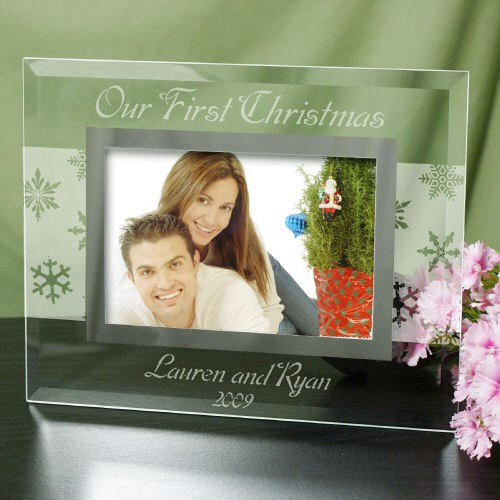 Our First Christmas Personalized Glass Picture Frame