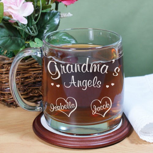 Angels of My Heart Personalized Glass Mug G215860