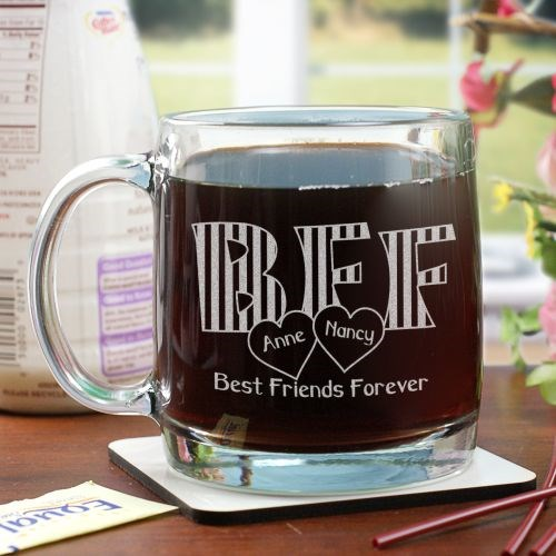Engraved BFF Glass Mug G227440