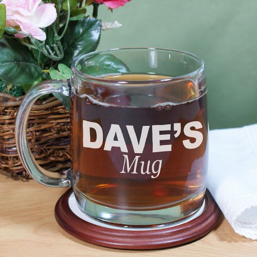 Engraved Any Name Glass Mug G23640