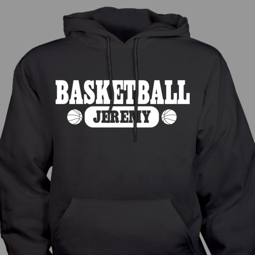 Personalized Basketball Hooded Youth Sweatshirt H52559X