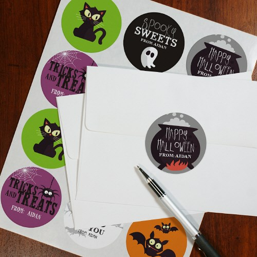 Personalized Halloween Stickers 178801