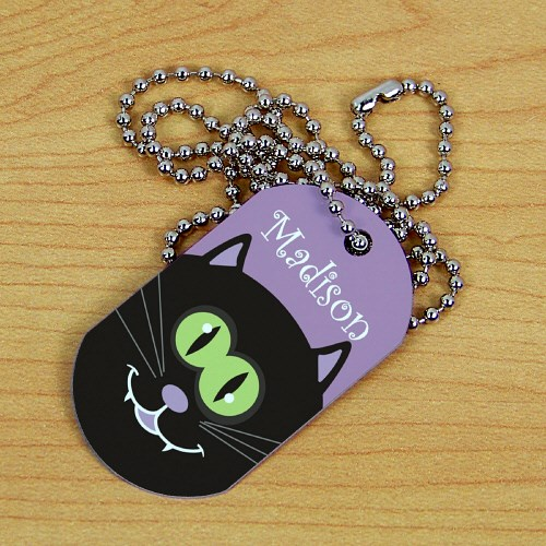 Personalized Halloween Dog Tag 378171CAT