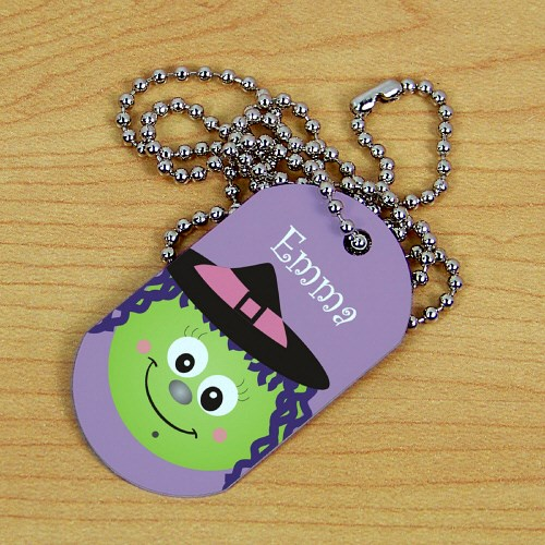 Personalized Witch Halloween Dog Tag 378171WITC