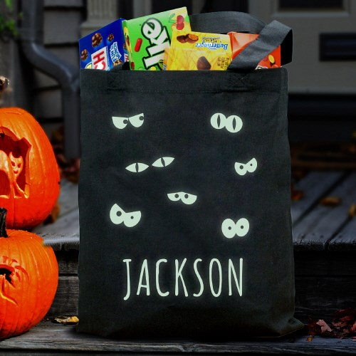 Personalized Glow In The Dark Halloween Bag 878672BK