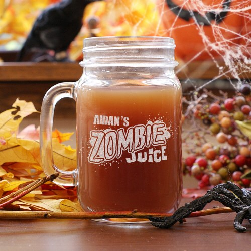 Personalized Halloween Mason Jar L789971