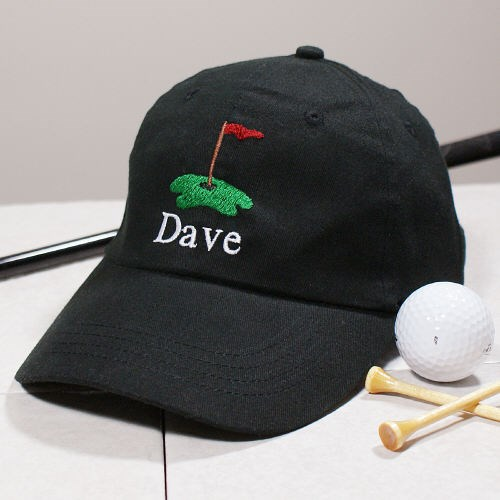 Embroidered Golf Black Hat 822706BK